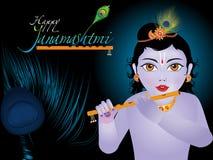 Αφηρημένο καλλιτεχνικό υπόβαθρο janamashtmi Στοκ Φωτογραφίες