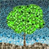 Αφηρημένο καλοκαίρι δέντρων προκαταρκτικής εργασίας φύλλων σχεδίων φύσης eco απεικόνιση αποθεμάτων