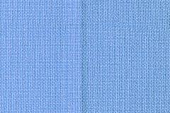 Αφηρημένο κενό υπόβαθρο για τα σχεδιαγράμματα Χονδροειδής μπλε υφαντικός στενός επάνω στοκ εικόνες