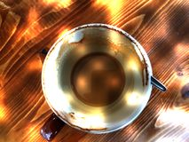 Αφηρημένο κενό φλυτζάνι καφέ στοκ εικόνα