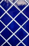 Αφηρημένο κεραμίδι τόνου deco βαθύ μπλε Στοκ φωτογραφία με δικαίωμα ελεύθερης χρήσης