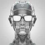 Αφηρημένο κεφάλι humanoid κατά τη μετωπική άποψη απεικόνιση αποθεμάτων