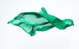 Αφηρημένο κομμάτι του πράσινου πετάγματος υφάσματος Στοκ εικόνα με δικαίωμα ελεύθερης χρήσης