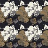 αφηρημένο κομψό πρότυπο λουλουδιών άνευ ραφής Στοκ Εικόνες