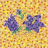Αφηρημένο κουδούνι άνοιξης καρδιών λουλουδιών λουλουδιών το αφηρημένο καλοκαίρι δέντρων προκαταρκτικής εργασίας φύλλων σχεδίων φύ απεικόνιση αποθεμάτων
