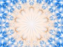 Αφηρημένο κυκλικό fractal σχέδιο με το διάστημα αντιγράφων Στοκ Φωτογραφία