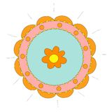 Αφηρημένο κυκλικό σχέδιο με το λουλούδι Στοκ φωτογραφία με δικαίωμα ελεύθερης χρήσης