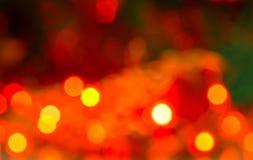 Αφηρημένο κυκλικό υπόβαθρο bokeh των φω'των Χριστουγέννων στοκ εικόνες