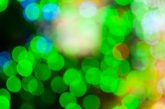 Αφηρημένο κυκλικό υπόβαθρο bokeh Christmaslight Στοκ Φωτογραφία