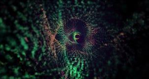 Αφηρημένο κυματίζοντας υπόβαθρο στα διάφορα χρώματα 4K ελεύθερη απεικόνιση δικαιώματος