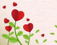 Αφηρημένο κόκκινο δέντρο καρδιών εγγράφου Στοκ εικόνα με δικαίωμα ελεύθερης χρήσης