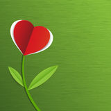 Αφηρημένο κόκκινο δέντρο καρδιών εγγράφου Στοκ Εικόνα