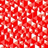 Αφηρημένο κόκκινο γεωμετρικό υπόβαθρο Στοκ Εικόνα