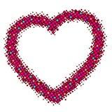 αφηρημένο κόκκινο καρδιών απεικόνιση αποθεμάτων
