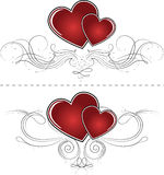 αφηρημένο κόκκινο καρδιών &alp Ελεύθερη απεικόνιση δικαιώματος