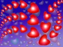 αφηρημένο κόκκινο καρδιών &alp Στοκ Φωτογραφία