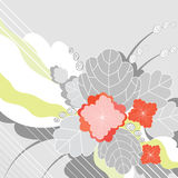 αφηρημένο κόκκινο λουλ&omicron Στοκ Εικόνες