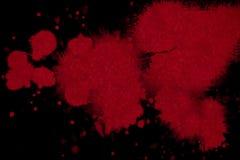 Αφηρημένο κόκκινο μελάνι αίματος splatter Στοκ Εικόνες