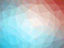 Αφηρημένο κόκκινο μπλε χαμηλό διαμορφωμένο πολύγωνο υπόβαθρο κλίσης Στοκ Φωτογραφία