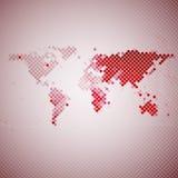 Αφηρημένο κόκκινο μωσαϊκό, διανυσματική απεικόνιση παγκόσμιων χαρτών Στοκ φωτογραφία με δικαίωμα ελεύθερης χρήσης