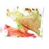 Αφηρημένο κόκκινο, πράσινο νερό βουρτσών watercolor μελανιού κτυπήματος σχεδίων ομο Στοκ εικόνα με δικαίωμα ελεύθερης χρήσης