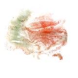 Αφηρημένο κόκκινο, πράσινο watercolor μελανιού κτυπήματος σχεδίων Στοκ Εικόνες