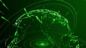 αφηρημένο κόκκινο πλανητών απόθεμα βίντεο