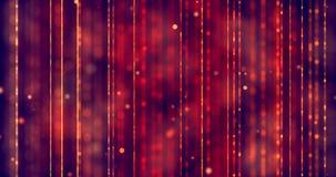 Αφηρημένο κόκκινο υπόβαθρο κλίσης Χριστουγέννων με το κόκκινο bokeh και τις κάθετες γραμμές που ρέουν, διακοπές σχέσης αγάπης ημέ φιλμ μικρού μήκους