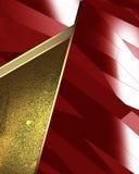 Αφηρημένο κόκκινο υπόβαθρο με τα χρυσά ένθετα Στοιχείο για το σχέδιο Πρότυπο για το σχέδιο διάστημα αντιγράφων για το φυλλάδιο ή  Στοκ Φωτογραφίες