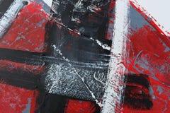 Αφηρημένο κόκκινο χέρι ανασκόπησης που χρωμ&alp Τεμάχιο του έργου τέχνης στοκ φωτογραφία