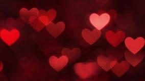 Αφηρημένο κόκκινο χρώμα υποβάθρου καρδιών bokeh απεικόνιση αποθεμάτων