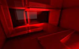 Αφηρημένο κόκκινο δωμάτιο διανυσματική απεικόνιση