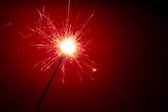 αφηρημένο κόκκινο sparkler ανασκό στοκ εικόνες με δικαίωμα ελεύθερης χρήσης