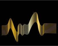 αφηρημένο κύμα απεικόνισης copyspase ανασκόπησης μπλε διανυσματική απεικόνιση