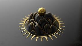 Αφηρημένο κύμα σε έναν κύκλο διανυσματική απεικόνιση