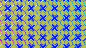 Αφηρημένο λάμποντας υπόβαθρο στα μπλε και κίτρινα χρώματα ελεύθερη απεικόνιση δικαιώματος