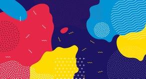 Αφηρημένο λαϊκό υπόβαθρο σχεδίων χρώματος τέχνης υγρό απεικόνιση αποθεμάτων