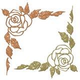 αφηρημένο λουλούδι γωνιώ& Στοκ Εικόνες