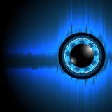 Αφηρημένο μάτι τεχνολογίας υποβάθρου διανυσμάτων Στοκ Εικόνα