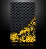 αφηρημένο μέταλλο λουλουδιών καρτών φυλλάδιων εμβλημάτων backgro Στοκ Εικόνες