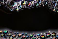 Αφηρημένο μακρο διάστημα αντιγράφων δομών φυσαλίδων σαπουνιών Στοκ Φωτογραφίες