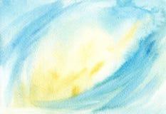 Αφηρημένο μαλακό μπλε κίτρινο θολωμένο watercolor υπόβαθρο Γραφικό στοιχείο διανυσματική απεικόνιση