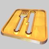 αφηρημένο μαχαίρι δικράνων Στοκ εικόνα με δικαίωμα ελεύθερης χρήσης