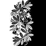 Αφηρημένο μαύρο & άσπρο Floral διάνυσμα Στοκ φωτογραφία με δικαίωμα ελεύθερης χρήσης