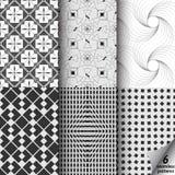αφηρημένο μαύρο λευκό σύστασης απεικόνισης σχεδίου διανυσματική απεικόνιση