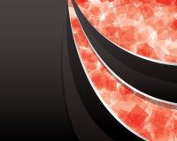 αφηρημένο μαύρο κόκκινο αν&alp Διανυσματική απεικόνιση