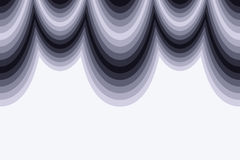 αφηρημένο μαύρο λευκό κυμά& Στοκ Φωτογραφίες