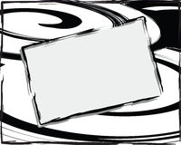 αφηρημένο μαύρο λευκό backgroun Στοκ Φωτογραφίες
