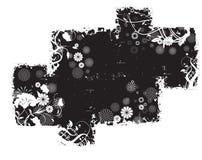 αφηρημένο μαύρο πρότυπο grunge Στοκ Φωτογραφία