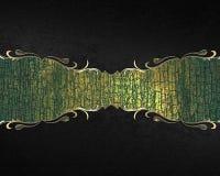Αφηρημένο μαύρο υπόβαθρο με το σημάδι grunge για το κείμενο Πρότυπο για το σχέδιο διάστημα αντιγράφων για το φυλλάδιο αγγελιών ή  Στοκ Φωτογραφίες
